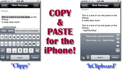 copy paste on iphone 2 new options clippy