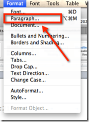 Format paragraph on Mac