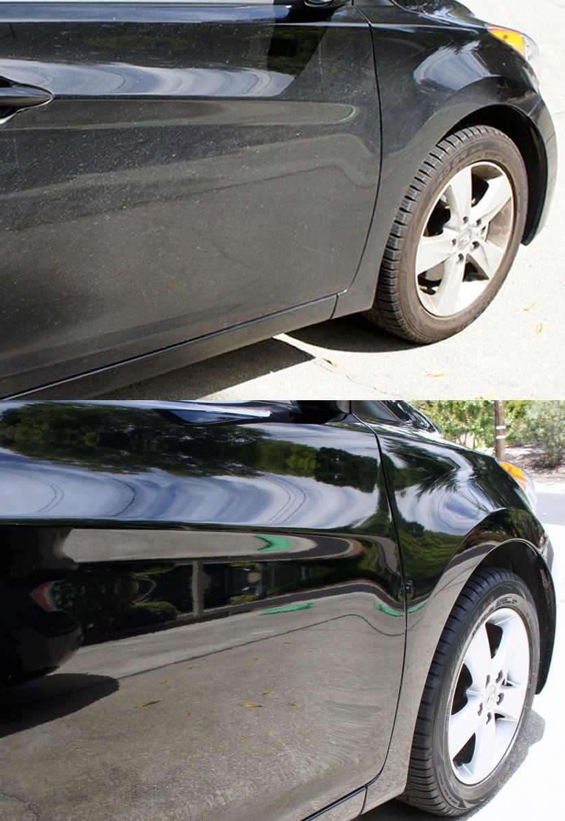 how to put turtle wax on car