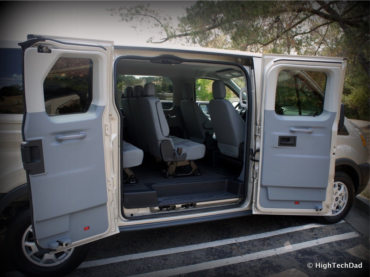 A Surprisingly Good Vacation Van 2015 Ford Transit Wagon Xlt Interior Passenger Doors Open The Emergency Exit Is Essentially Rear Flip