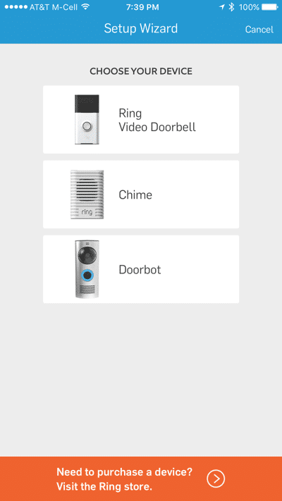 HTD Ring doorbell - iOS #1