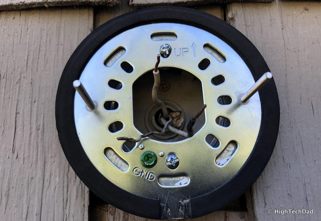 Ring Floodlight Cam - Ring bracket installed