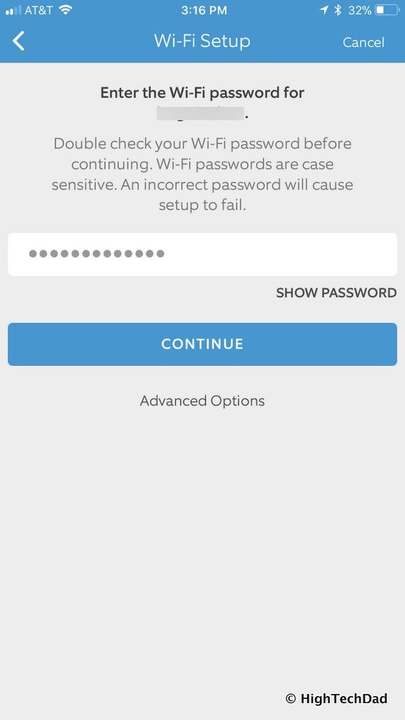 Ring Floodlight Cam - enter password