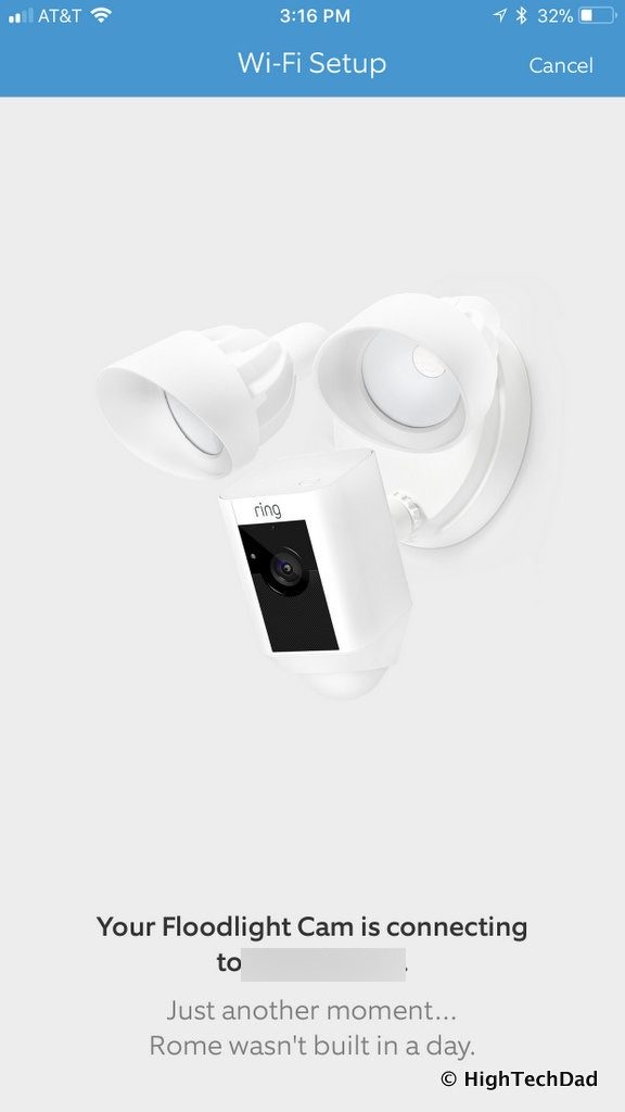 Ring Floodlight Cam - connecting