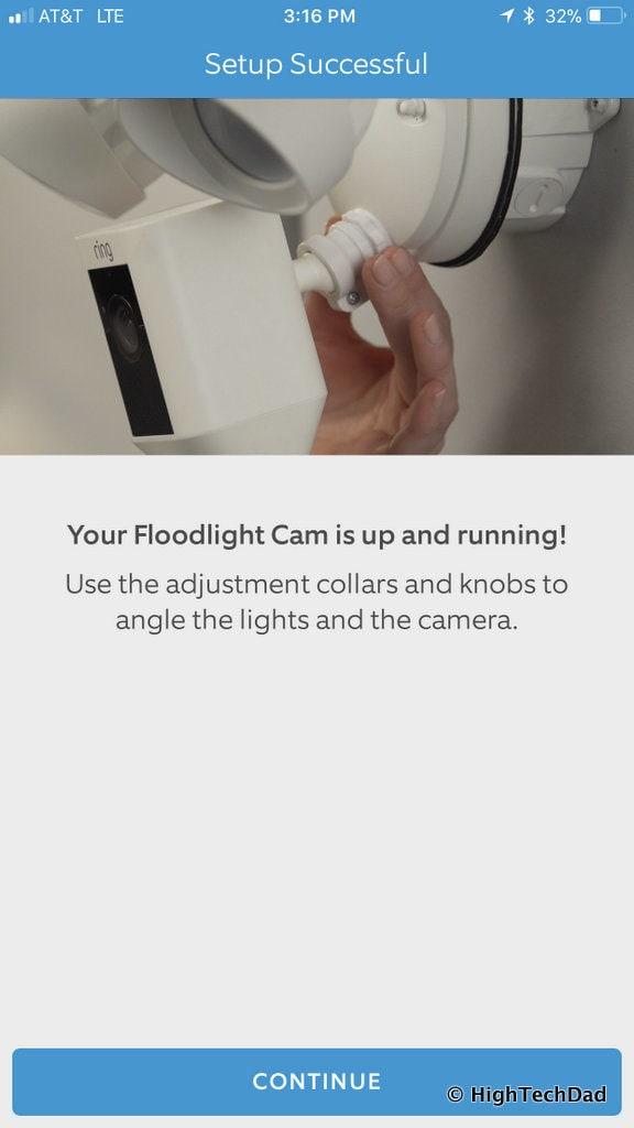 Ring Floodlight Cam - position
