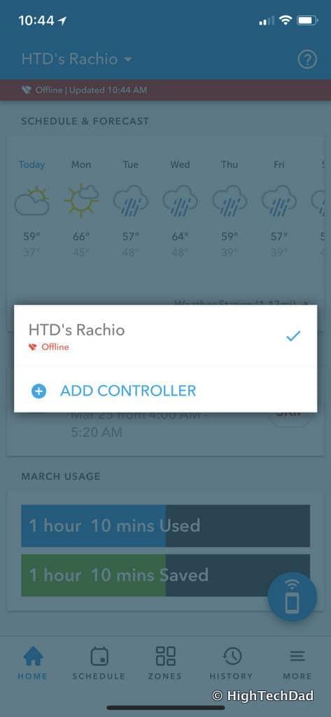 HTD Rachio Gen3 Review - add controller