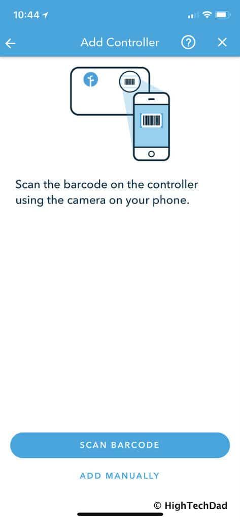 HTD Rachio Gen3 Review - scan barcode