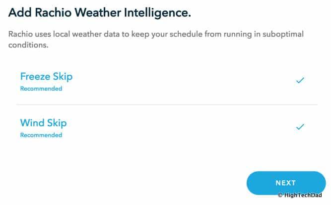 HTD Rachio Gen3 Review - weather intelligence