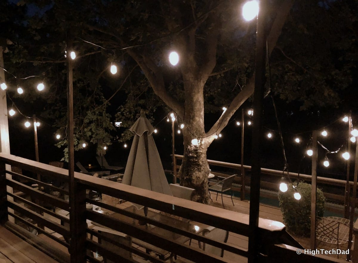 DIY: How To Build Removable Cafe Lighting Posts that Attach to a Deck