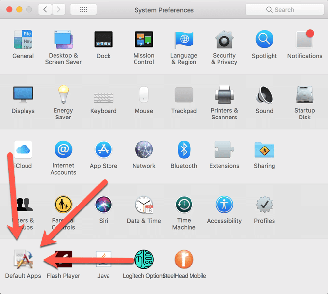 HighTechDad - How To set default application on Mac - System Preference Pane