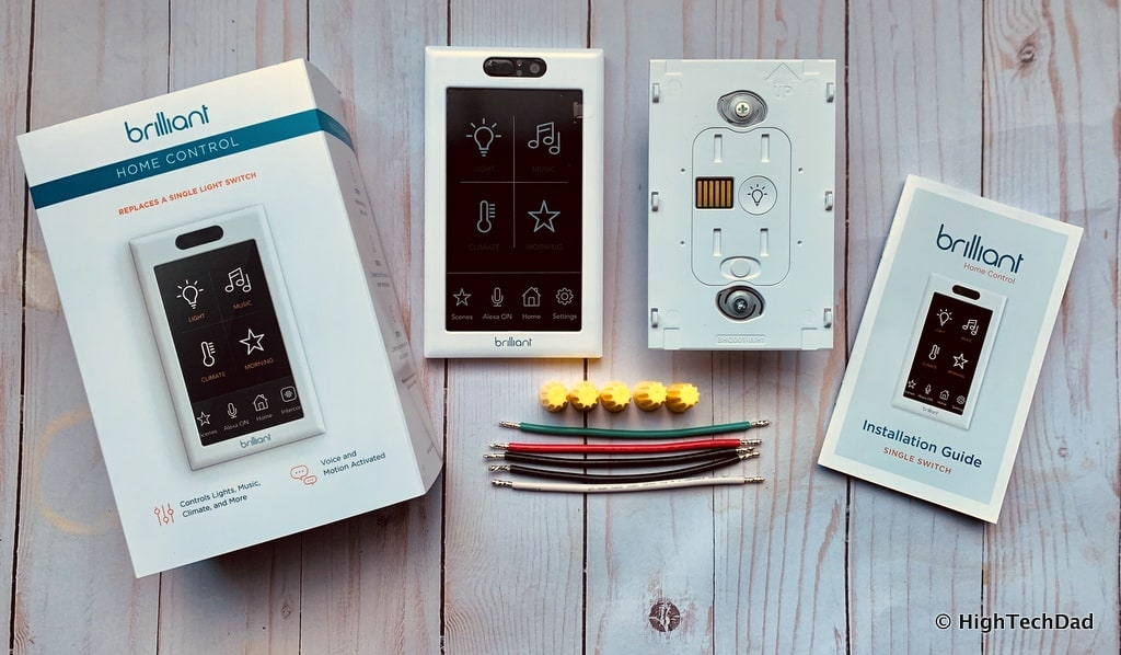 HighTechDad Brilliant Smart Switch Review - In the box