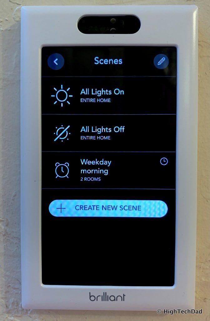 HighTechDad Brilliant Smart Switch Review - scenes