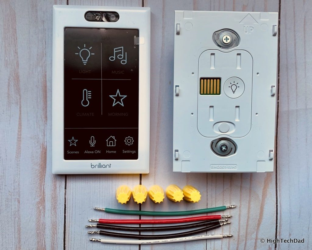 HighTechDad Brilliant Smart Switch Review - what's in the box
