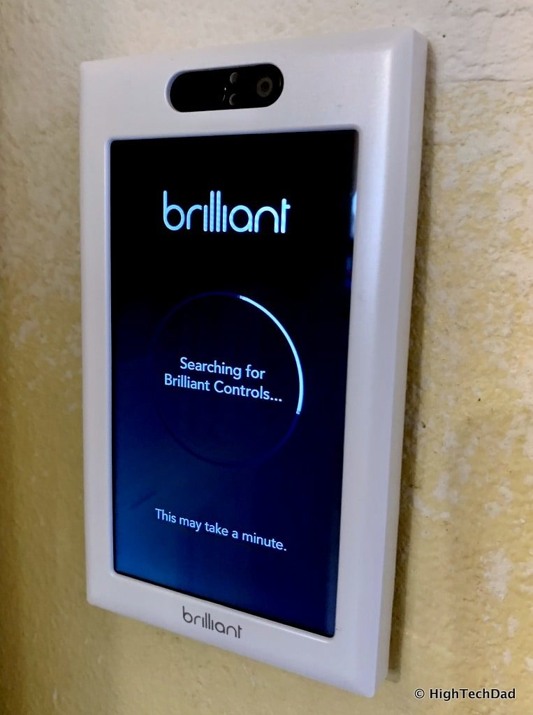 HighTechDad Brilliant Smart Switch Review - initial startup