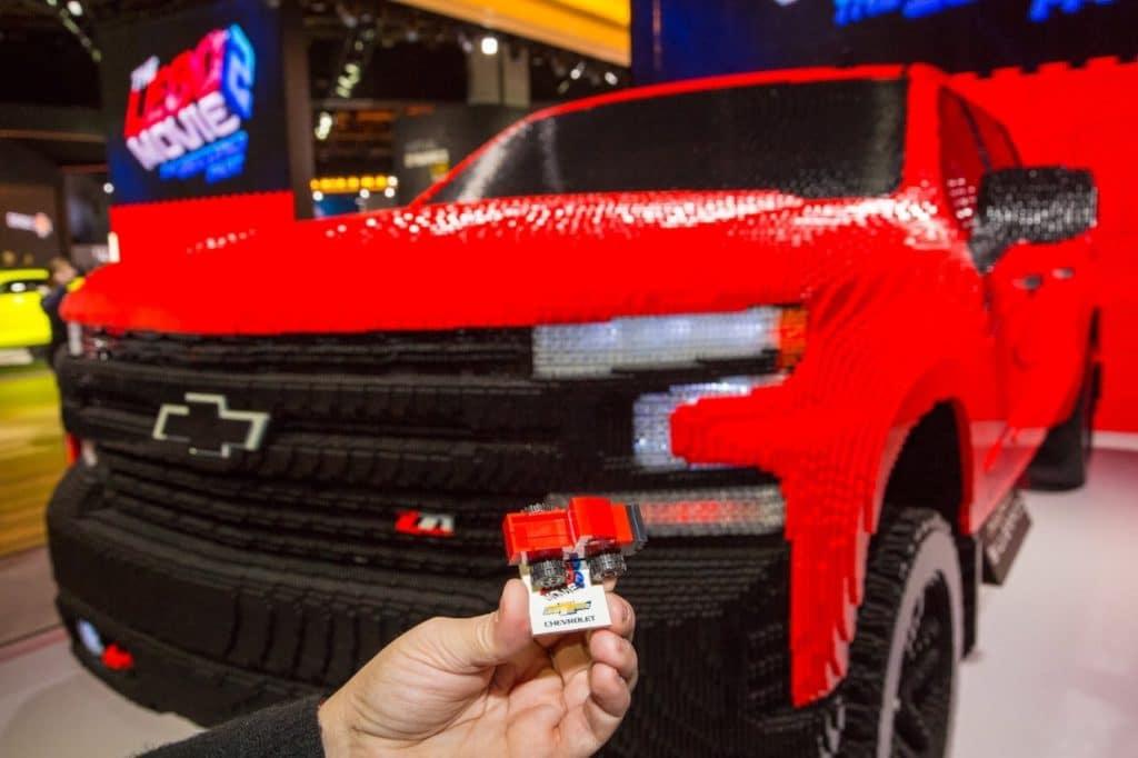 Chevy Silverado LEGO model with 334,544 LEGO pieces