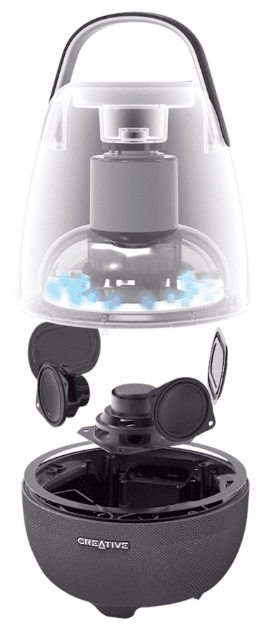 HighTechDad review Creative Nova Smart Speaker & Lamp - exploded view