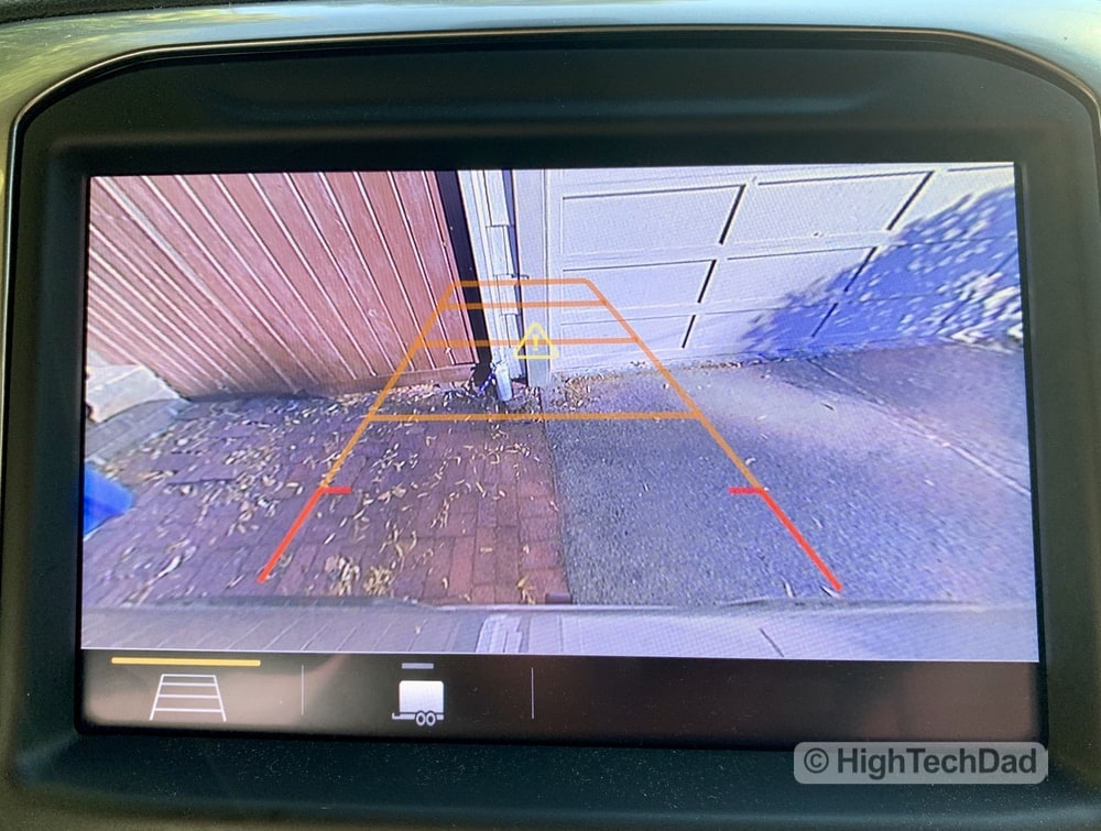 HighTechDad Review 2019 Chevy Silverado - rear camera