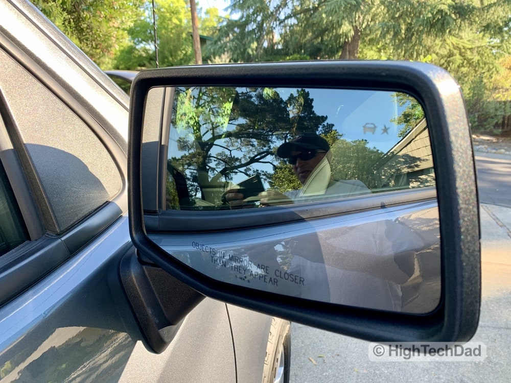 HighTechDad Review 2019 Chevy Silverado - blind spot indicators
