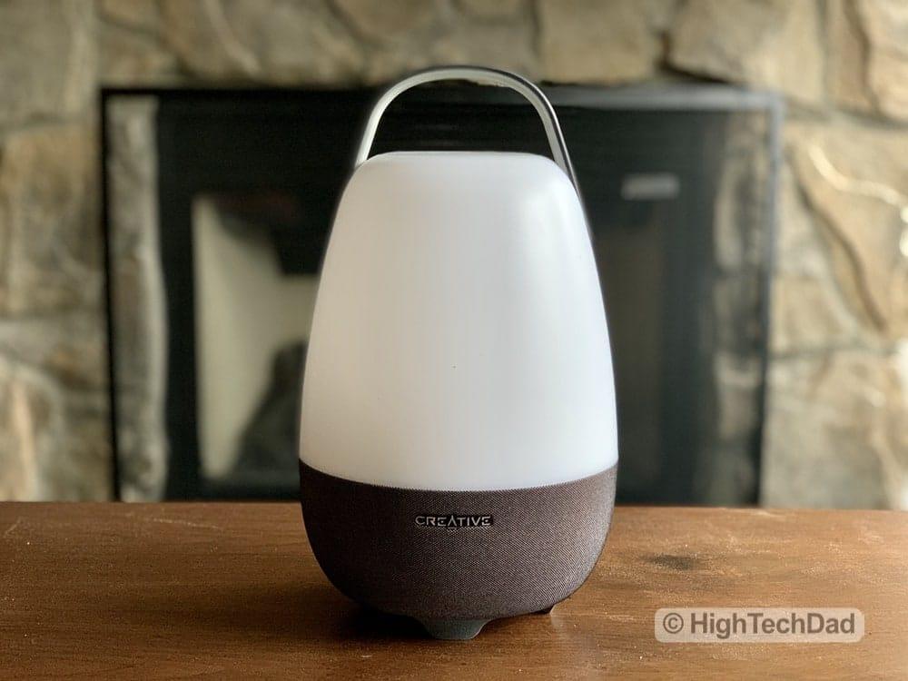 HighTechDad review Creative Nova Smart Speaker & Lamp - off