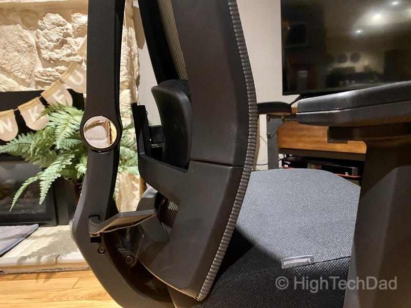 HighTechDad review - Autonomous ErgoChair 2 - lumbar support