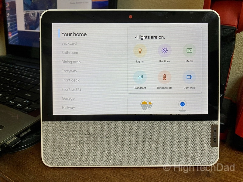 HighTechDad review: Lenovo Smart Display 7 - fully smart device control