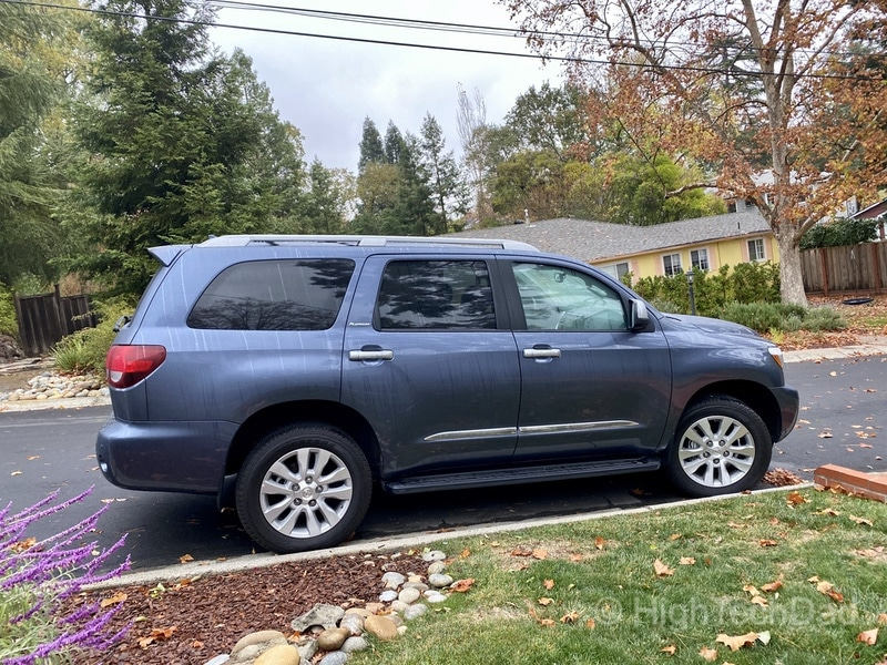 HighTechDad, Toyota Season of Giving & the 2019 Toyota Sequoia - side view