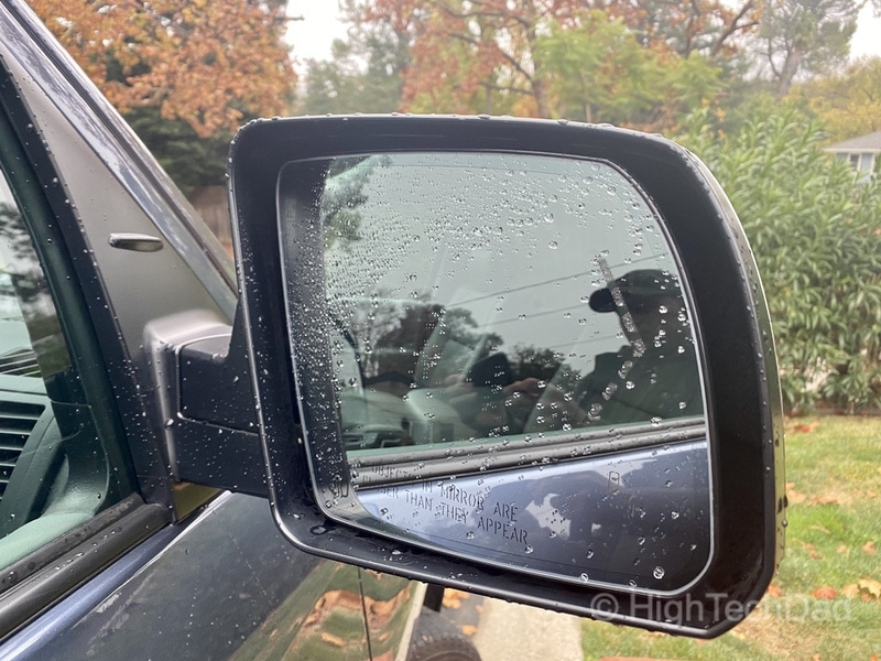 HighTechDad, Toyota Season of Giving & the 2019 Toyota Sequoia - side mirror