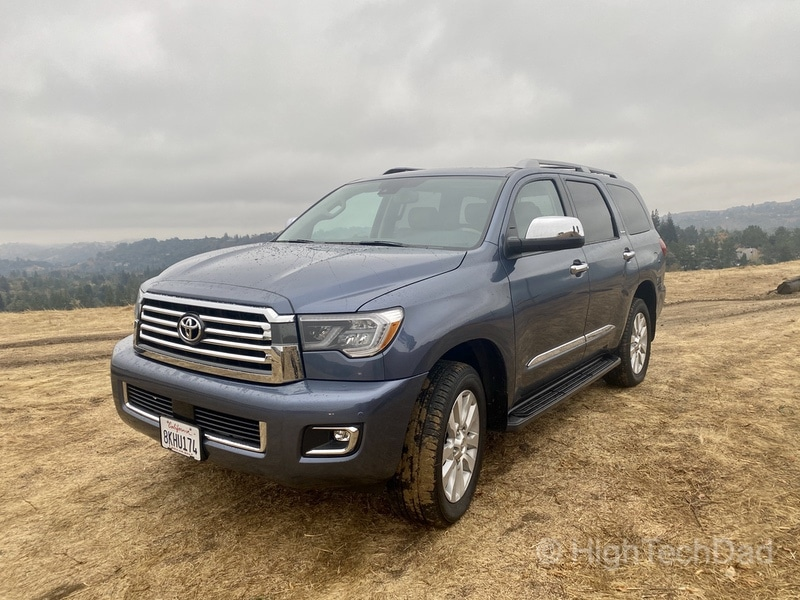 HighTechDad, Toyota Season of Giving & the 2019 Toyota Sequoia - front driver's side
