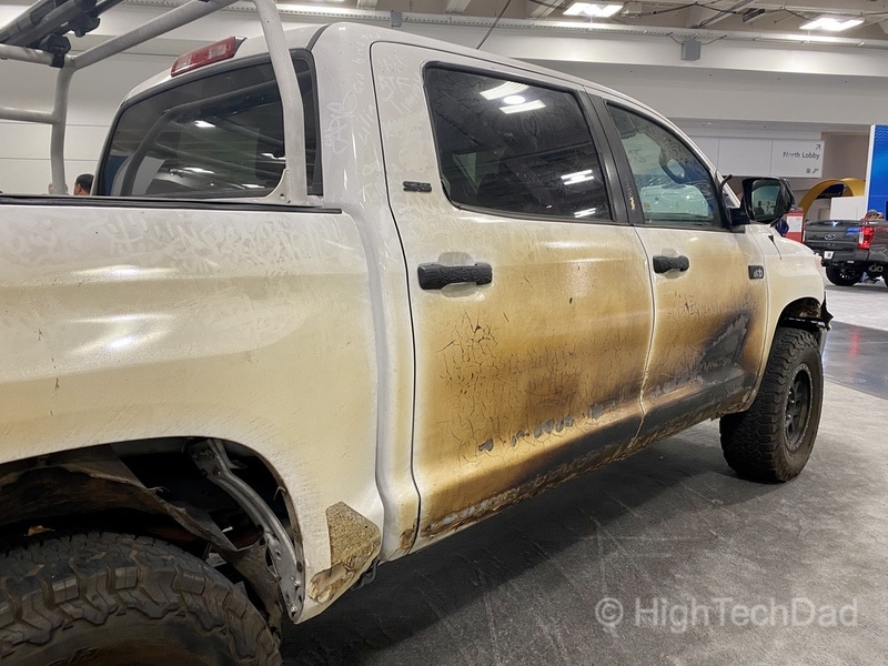 """HighTechDad, Toyota Season of Giving & the 2019 Toyota Sequoia - side view of the """"Panda"""""""