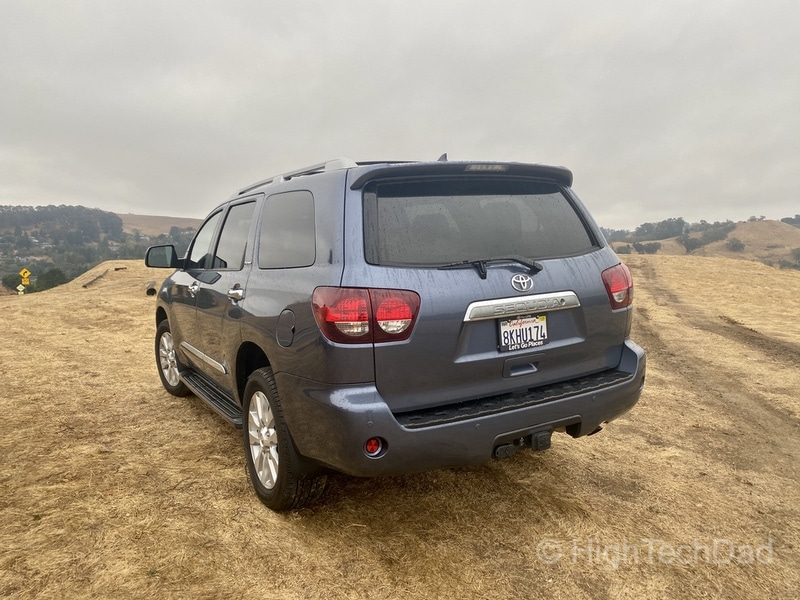 HighTechDad, Toyota Season of Giving & the 2019 Toyota Sequoia - rear view