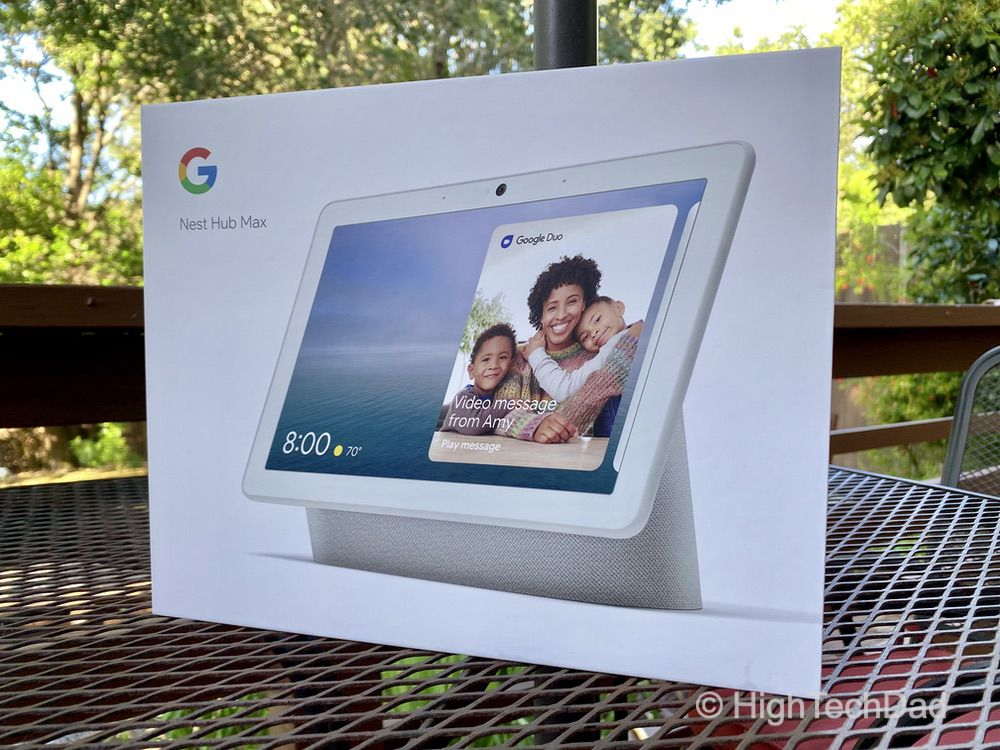 HighTechDad Nest Hub Max review - in the box