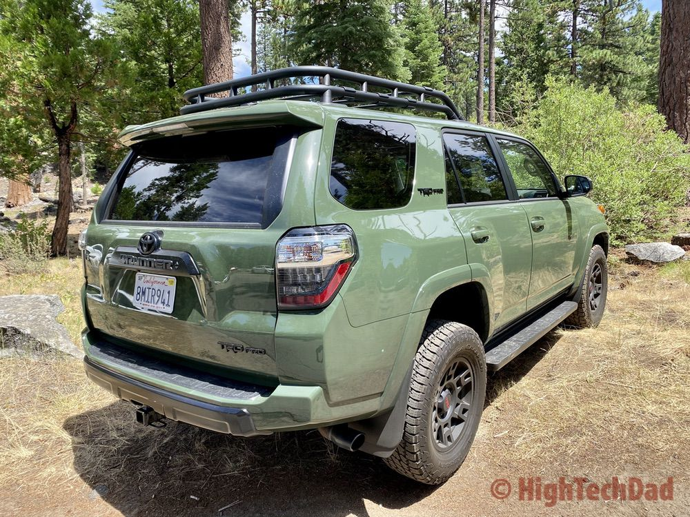HighTechDad reviews 2020 Toyota 4Runner TRD Pro - rear passenger side