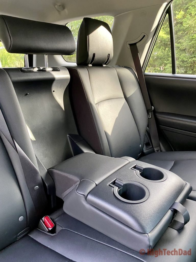 HighTechDad reviews 2020 Toyota 4Runner TRD Pro - rear seats with armrest