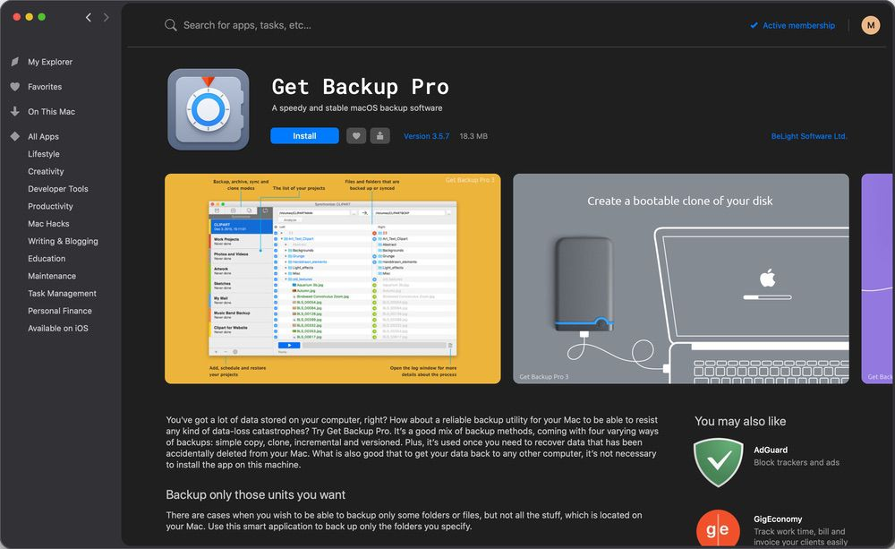 HighTechDad - Setapp Get Backup Pro gives you a great way to backup your Mac before upgrading