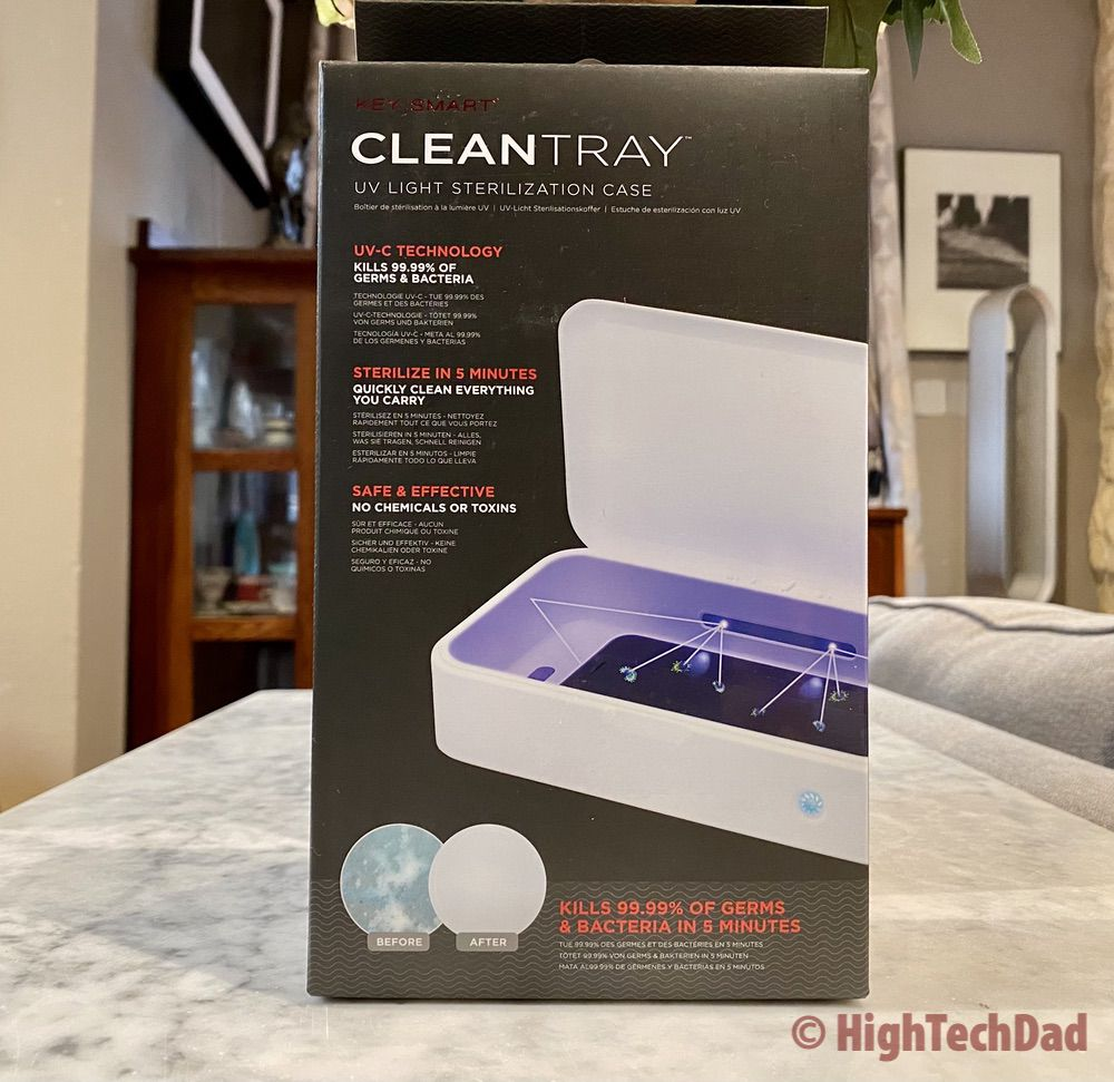 HighTechDad review - KeySmart CleanTray UV-C sanitizing tray - in the box