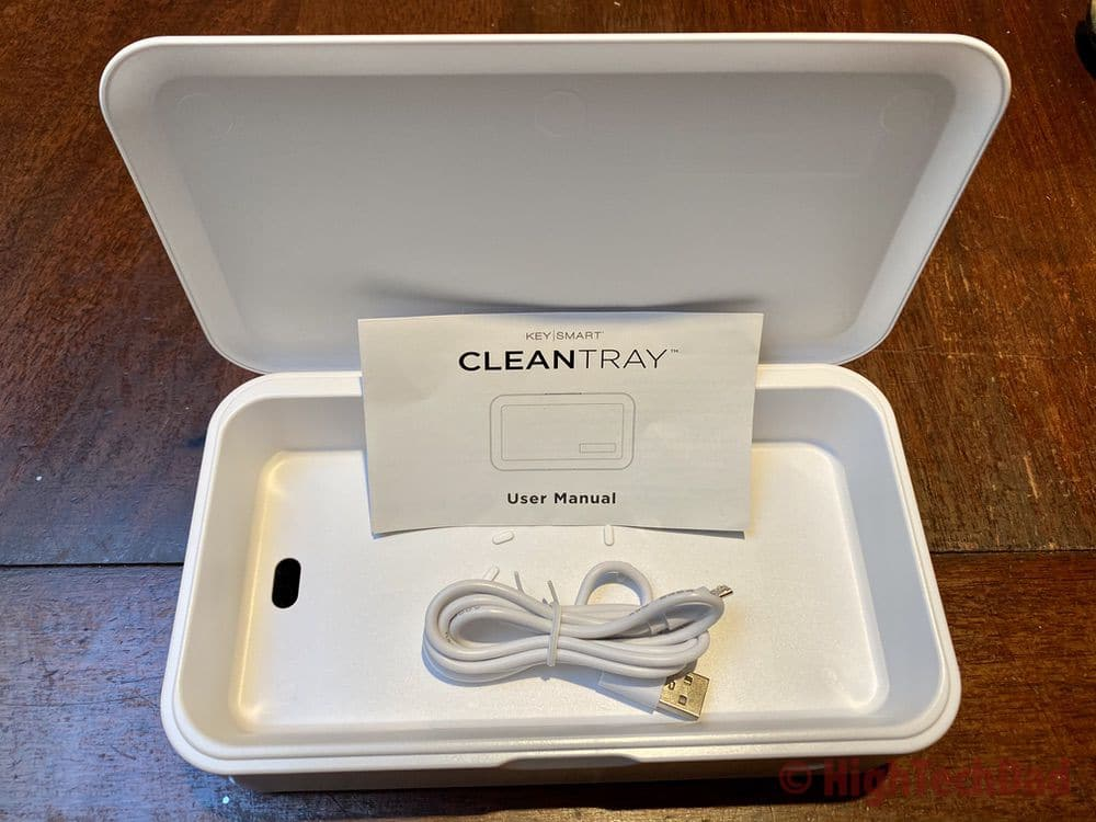 HighTechDad review - KeySmart CleanTray UV-C sanitizing tray - what's in the box